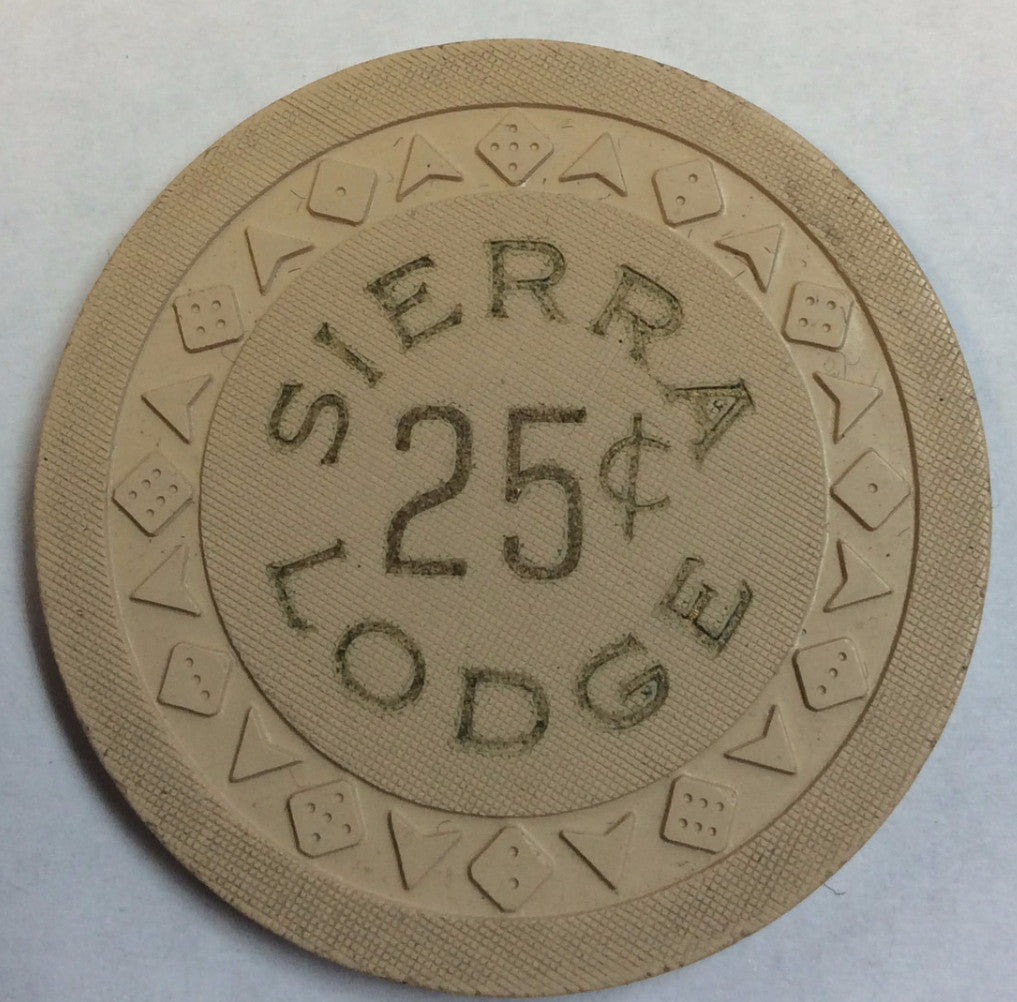 Sierra Lodge Casino North Lake Tahoe NV 25 Cent Chip 1953