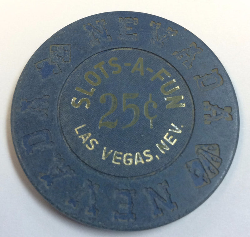 Slot A Fun Casino Las Vegas 25cent chip 1973 - Spinettis Gaming