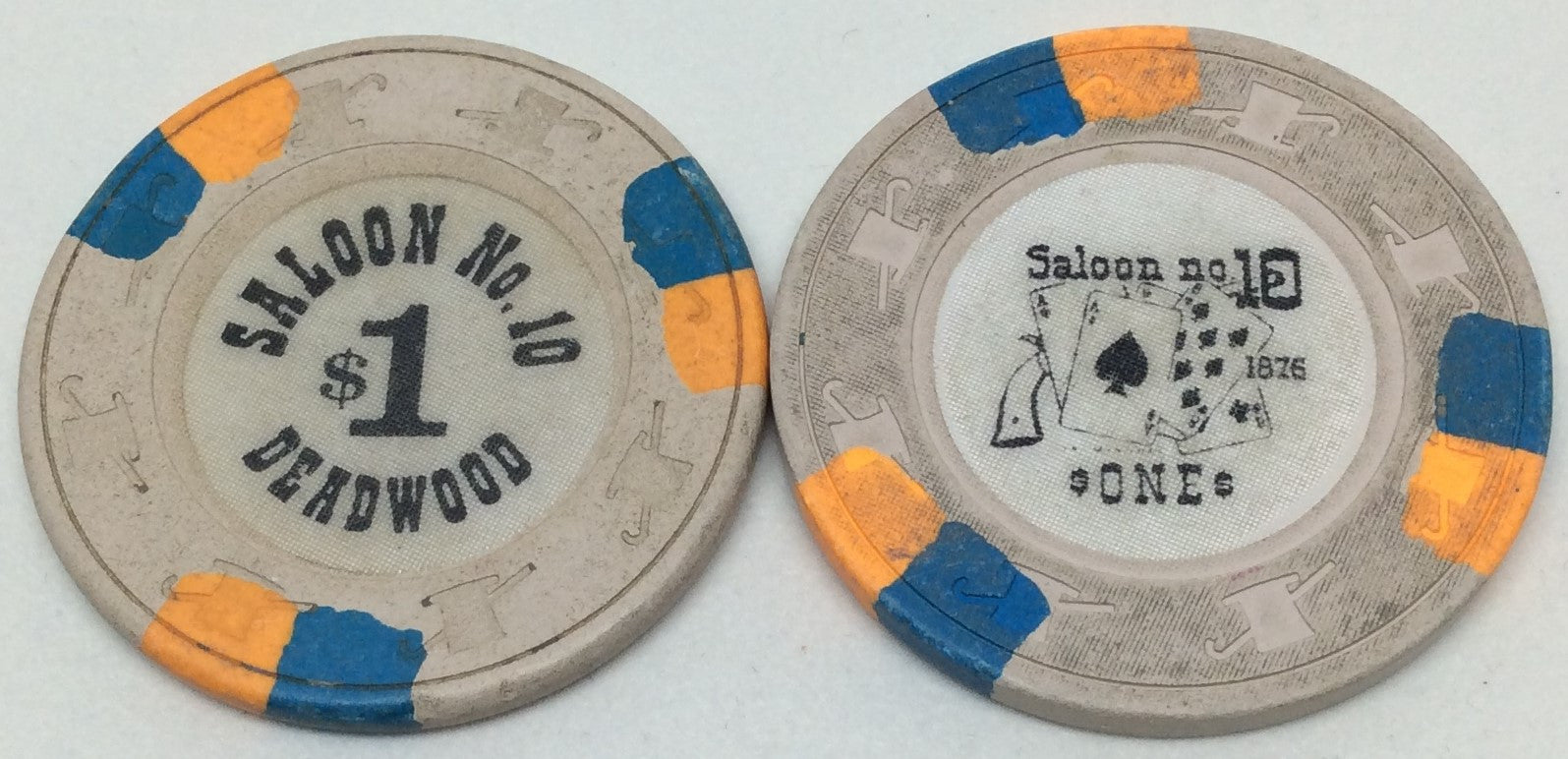 Saloon No.10 Casino Deadwood $1 Chip
