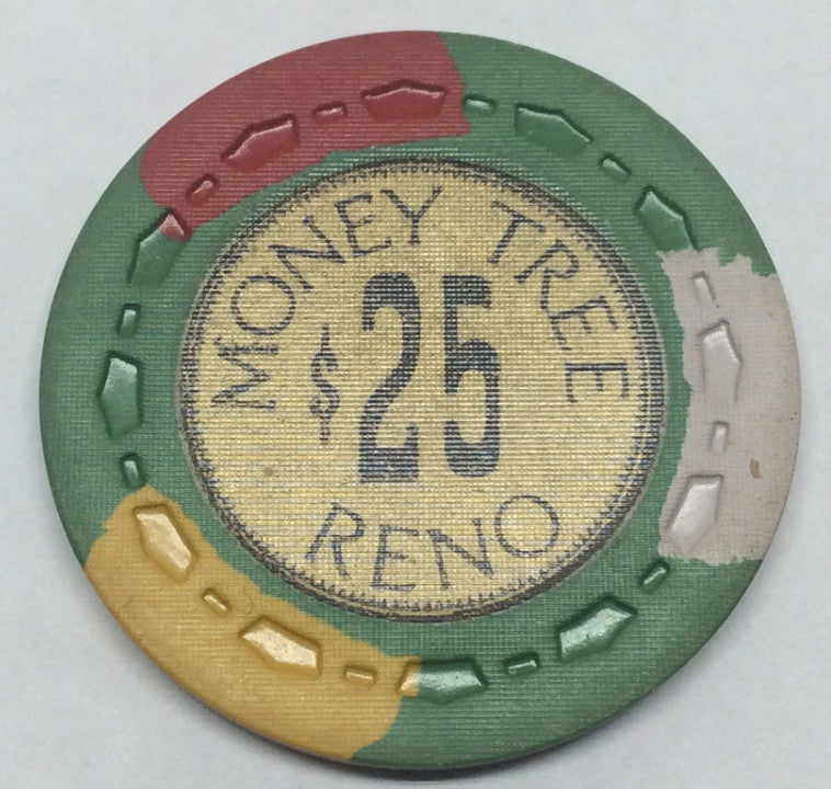 Money Tree Reno $25 light green chip 1969