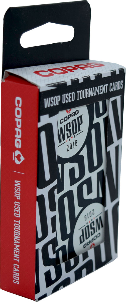 Authentic Black Deck Dealt at WSOP Final Table Used Copag Plastic Playing Cards Bridge Standard Index
