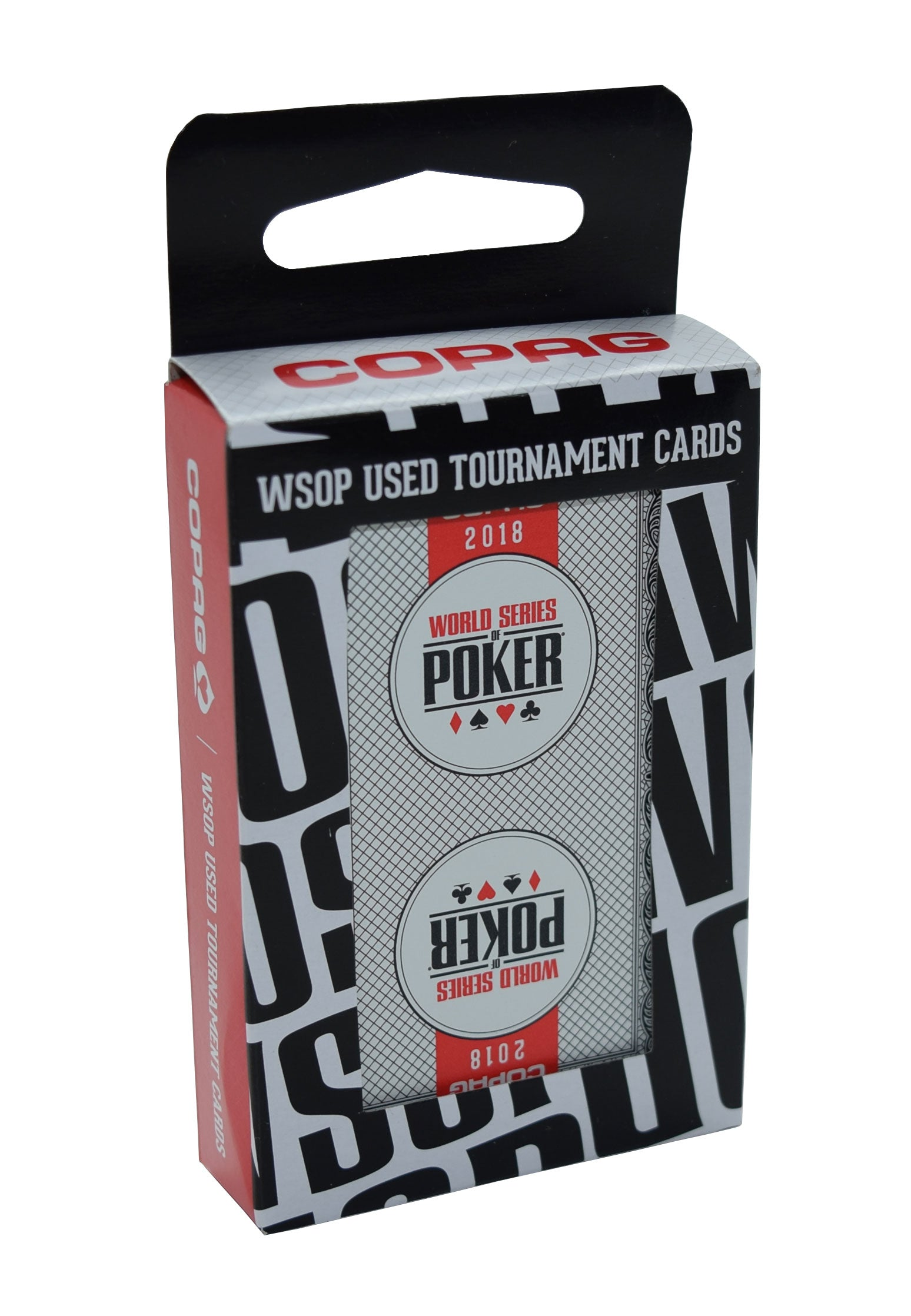 2018 Black Authentic Deck Used at WSOP Copag 100% Plastic Playing Cards Bridge Standard Index