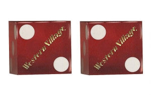 Western Village Used Casino Dice, Pair - Spinettis Gaming - 1