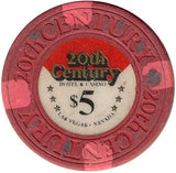 20th Century Casino $5 Red Chip - Spinettis Gaming - 1