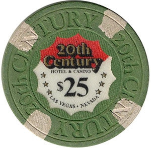 20th Century Casino $25 Green Chip