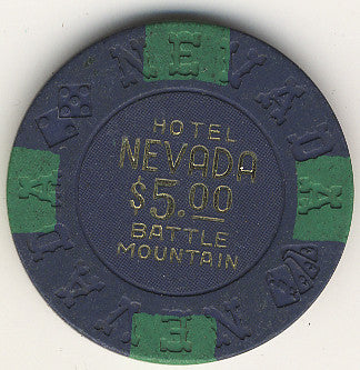 Hotel Nevada $5 (blue) chip - Spinettis Gaming - 1