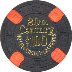 20th Century Casino $100 Black Chip 1977 - Spinettis Gaming - 1