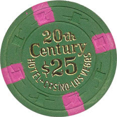 20th Century Casino $25 Green Chip 1977 - Spinettis Gaming