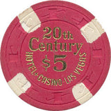 20th Century Casino $5 Red Chip 1977 - Spinettis Gaming - 1