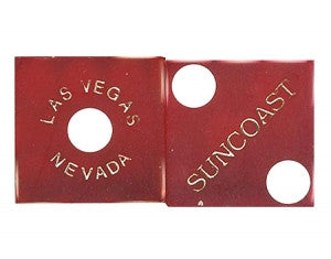 Suncoast Red Used Casino Dice, Pair - Spinettis Gaming - 1