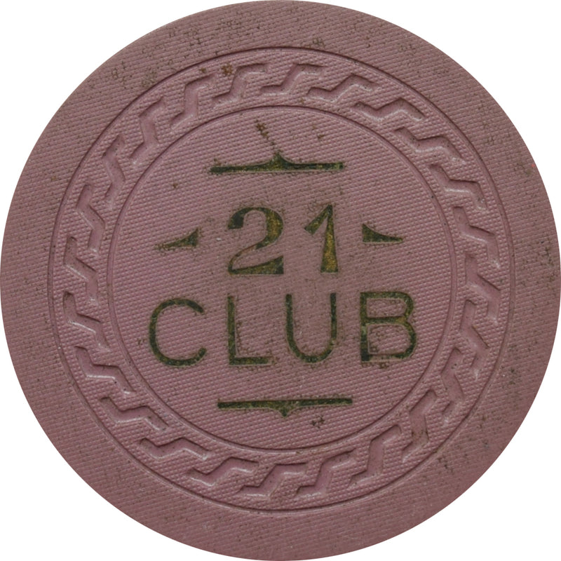 21 Club (Last Frontier) Casino Las Vegas $25 Chip 1945