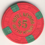 Hotel Nevada $5 (hot pink) chip - Spinettis Gaming - 1