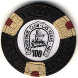 HorseShoe Club $100 (black) chip - Spinettis Gaming - 1