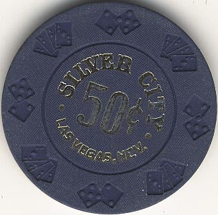 Silver City 50cent (blue) chip