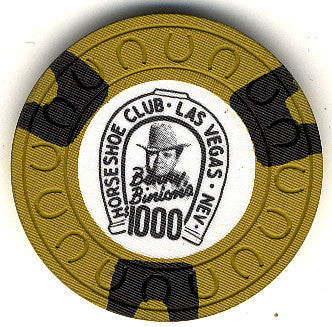 HorseShoe Club $1000 (yellow) chip - Spinettis Gaming - 1