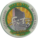 Fitzgeralds Casino Las Vegas 25 NCV (The Fitz Poker Room) Tournament Chip - Spinettis Gaming - 3