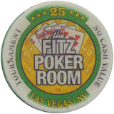 Fitzgeralds Casino Las Vegas 25 NCV (The Fitz Poker Room) Tournament Chip - Spinettis Gaming - 2