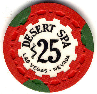 Desert Spa $25 (red 1958) Chip - Spinettis Gaming - 1