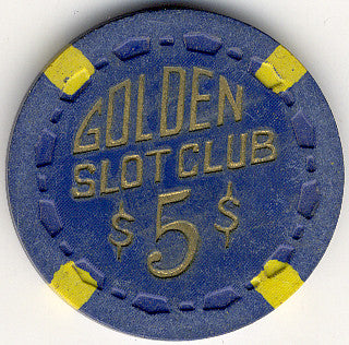 Golden Slot Club $5 (Blue) chip - Spinettis Gaming - 1