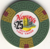 Harveys $25 Green (Large Key) chip - Spinettis Gaming - 2
