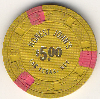 Honest John's Casino Las Vegas NV $5 Chip 1963