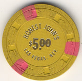 Honest John's $5 (Mustard) chip - Spinettis Gaming - 2