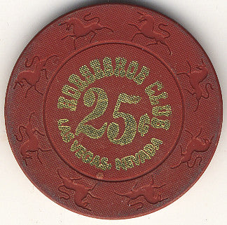 HorseShoe Club 25 (Red, Unicorn Mold) chip - Spinettis Gaming - 1