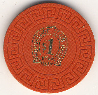 HorseShoe Club $1(orange) chip - Spinettis Gaming - 2