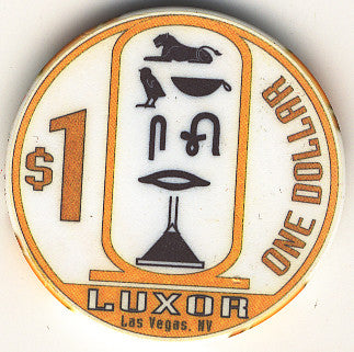 Luxor $1 (white) chip