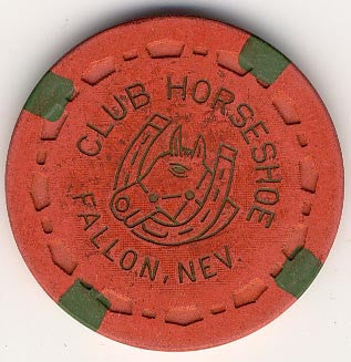 Club Horseshoe Casino Fallon 25cent Chip