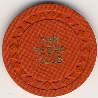 San Pedro Club Casino Orange Chip