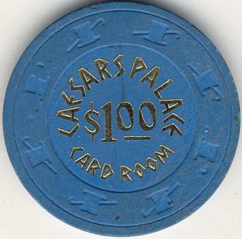 Caesars Palace $1 ( blue 1970s) Chip - Spinettis Gaming - 1