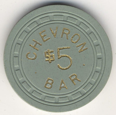 Chevron Bar $5 (green 1957) Chip - Spinettis Gaming - 1