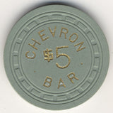 Chevron Bar $5 (green 1957) Chip - Spinettis Gaming - 2