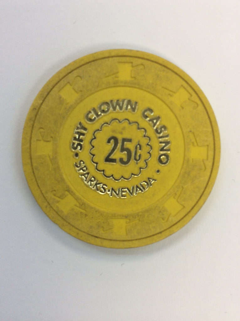 Shy Clown 25cent (yellow) chip