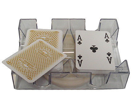 2 Deck Revolving Canasta Card Tray - Spinettis Gaming - 1
