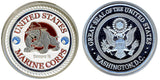Card Guard United States Marine Corps Card Guard Silver - Spinettis Gaming