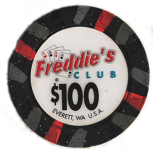 Freddie's Club Casino $100 Chip - Spinettis Gaming