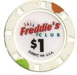 Freddie's Club Casino $1 Chip - Spinettis Gaming