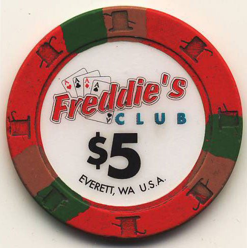 Freddie's Club Casino $5 Chip - Spinettis Gaming