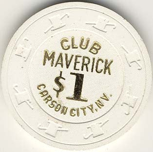 Club Maverick $1 (white) chip