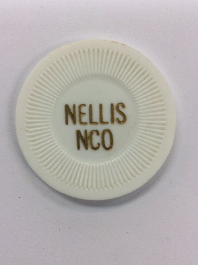 Nellis NCO 25 (white) chip - Spinettis Gaming