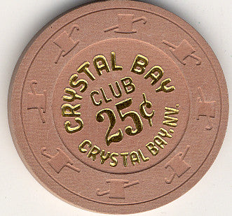 Crystal Bay Club 25 (lt brown 1980s) Chip - Spinettis Gaming - 2