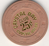 Crystal Bay Club 25 (lt brown 1980s) Chip - Spinettis Gaming - 1