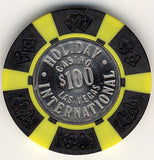Holiday Casino $100 (black) chip - Spinettis Gaming - 2