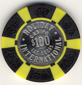 Holiday Casino $100 (black) chip - Spinettis Gaming - 1