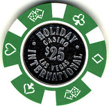 Holiday International $25 (green) chip - Spinettis Gaming - 1