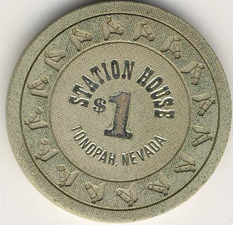 Station House $1 (off-white) chip - Spinettis Gaming - 2