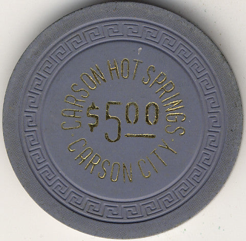 Carson Hot Springs $5 (gray/blue 1963) Chip