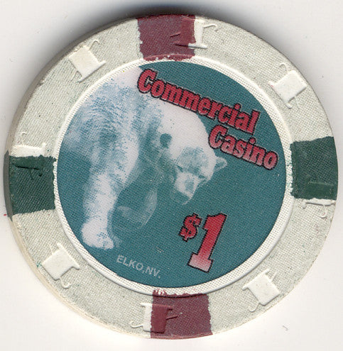 Commercial Hotel $1 (white 1994) Chip